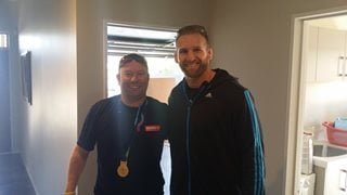 Crown had the honour of moving our champion All Black No 8, Kieran Read