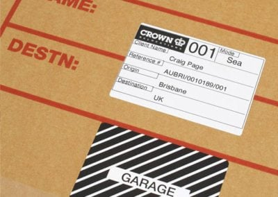 Boxes to move Garage Equipment by Crown Relocations